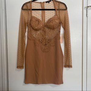 NWT Long-Sleeved Bodycon Dress